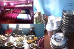 Neue Betten, Geschirr und Kinder am Essen