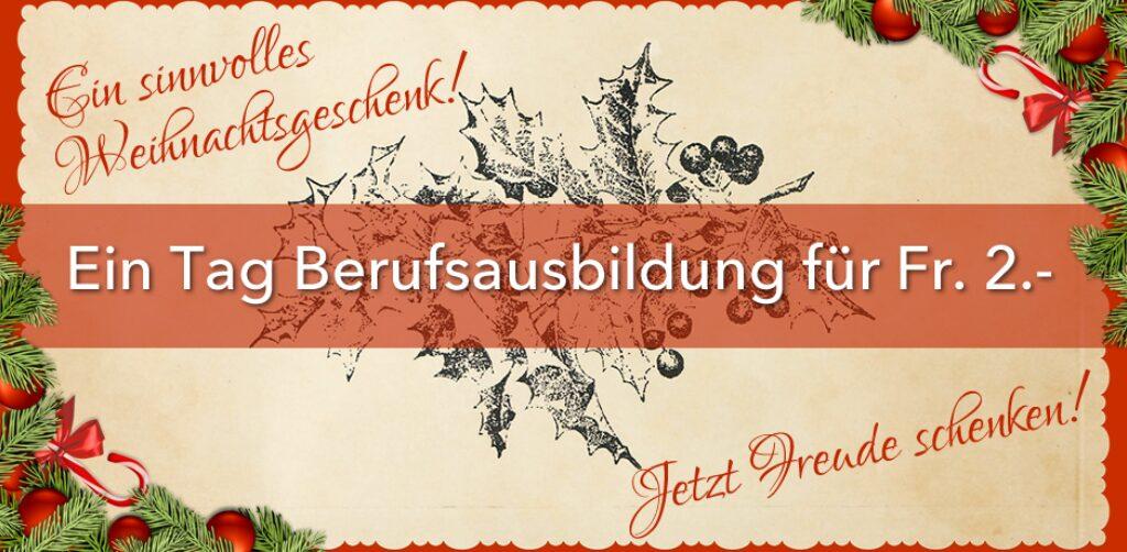 Weihnachtszertifikat Banner