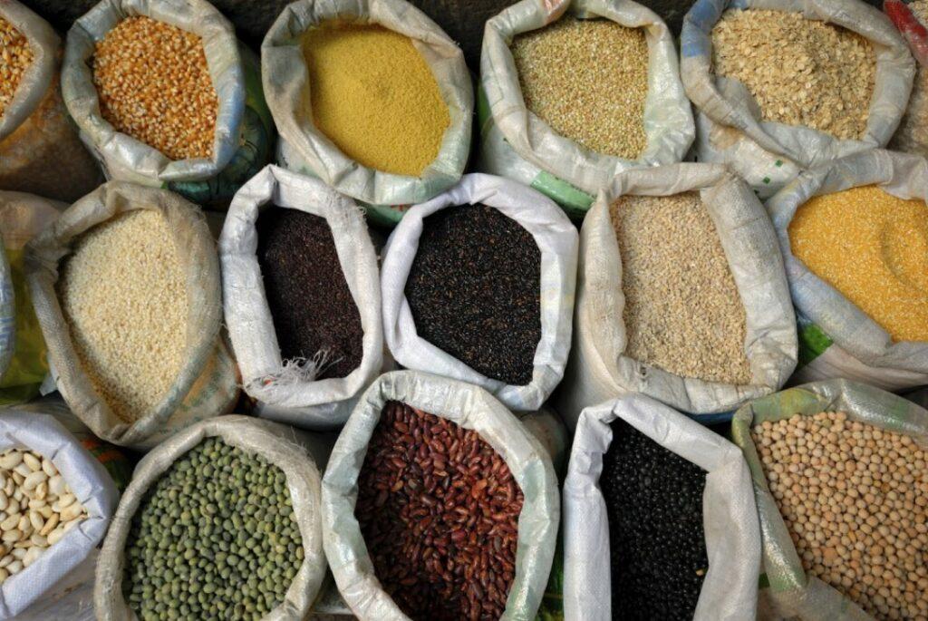 Dried grains